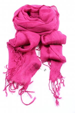 H&M Fringed Scarf pink casual look