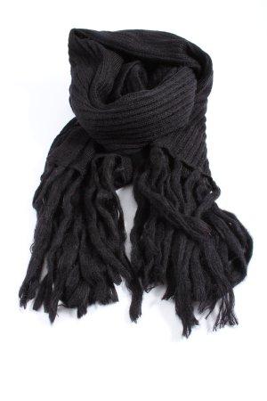 H&M Bufanda de flecos negro look casual