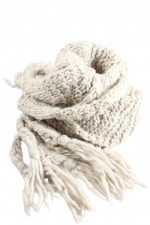 H&M Fringed Scarf white weave pattern casual look