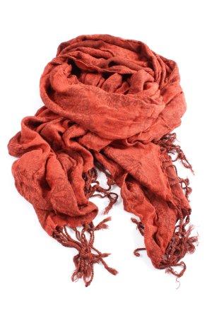H&M Fringed Scarf red-brown allover print elegant