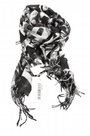 H&M Fringed Scarf black-white abstract pattern casual look