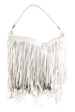 H&M Borsa con frange bianco elegante