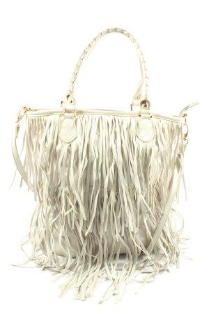 H&M Borsa con frange bianco stile casual