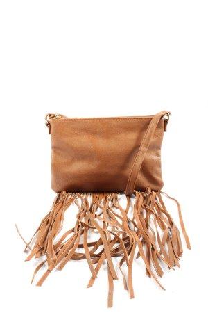 H&M Borsa con frange marrone stile casual