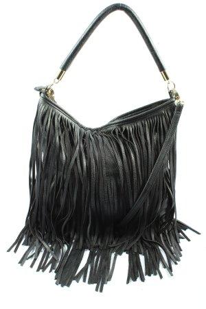 H&M Torebka z frędzlami czarny W stylu casual