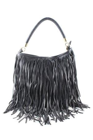 H&M Tas met franjes zwart casual uitstraling