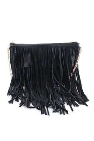 H&M Sac à franges noir style décontracté