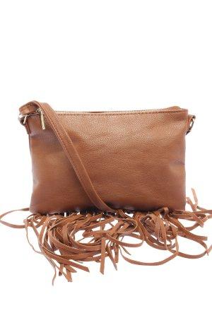 H&M Bolso de flecos marrón look casual