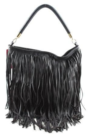 H&M Bolso de flecos negro look casual