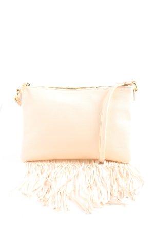 H&M Bolso de flecos blanco look casual