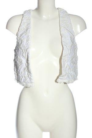 H&M Veste à franges blanc élégant