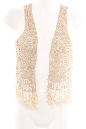 H&M Smanicato con frange beige stile casual