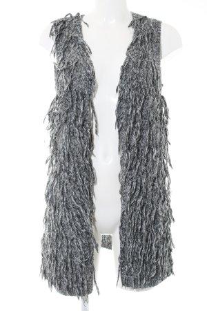 H&M Fransenweste hellgrau meliert extravaganter Stil