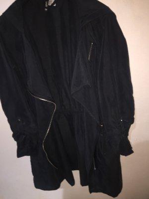H&M Kurtka z kapturem czarny-antracyt