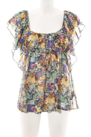 H&M Garden Collection Kurzarm-Bluse Allover-Druck Casual-Look