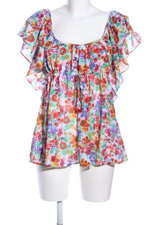 H&M Garden Collection Kurzarm-Bluse Blumenmuster Elegant
