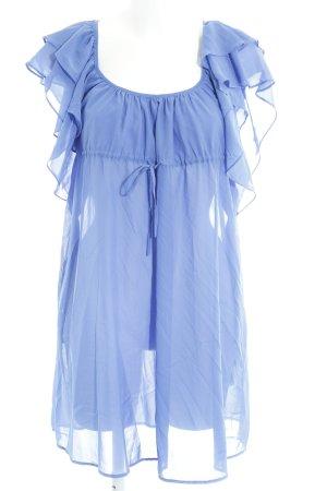 H&M Garden Collection Long-Bluse blauviolett schlichter Stil