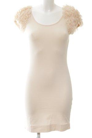 H&M Garden Collection Stretchkleid creme Elegant