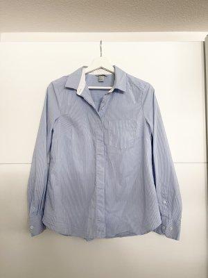 H&M gestreifte Bluse Hemd Blau weiß Gr38