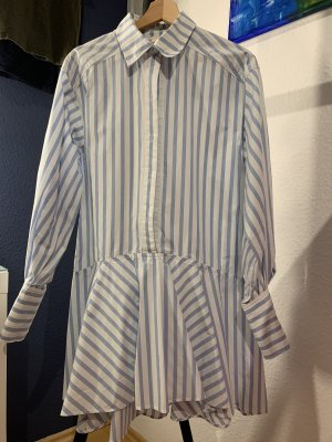 H&M Blouse Dress white-blue
