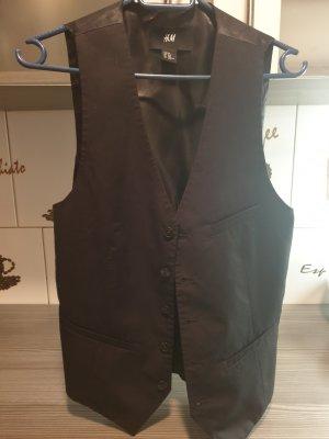 H&M Leren vest zwart