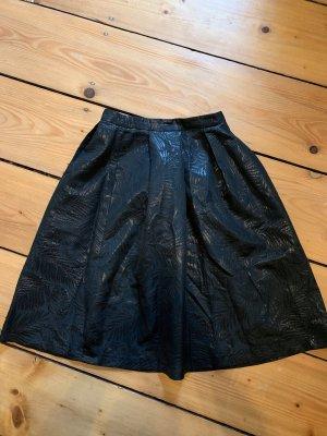 H&M Falda plisada negro-gris antracita