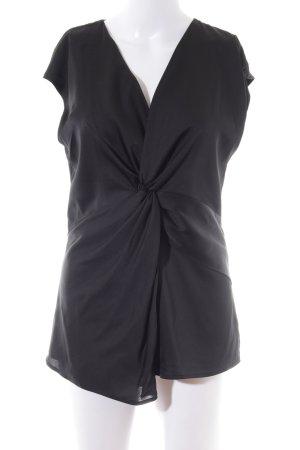 H&M Glanzbluse schwarz Business-Look