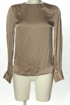 H&M Glanzende blouse lichtgrijs casual uitstraling