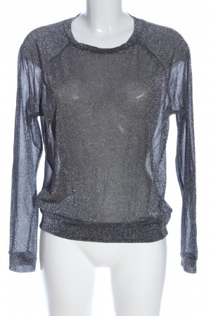 H&M Glanzende blouse blauw casual uitstraling