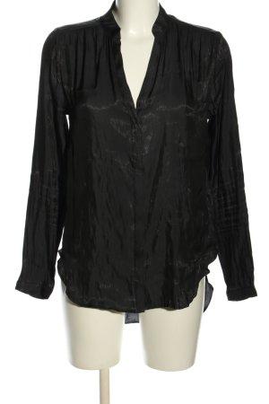 H&M Glanzbluse schwarz Elegant