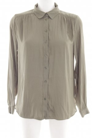 H&M Glanzbluse creme Streifenmuster Business-Look