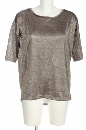 H&M Blusa brillante marrón look casual