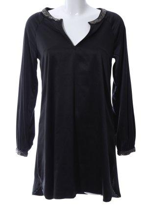 H&M Glanzbluse schwarz Casual-Look