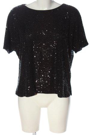 H&M Splendor Blouse black wet-look
