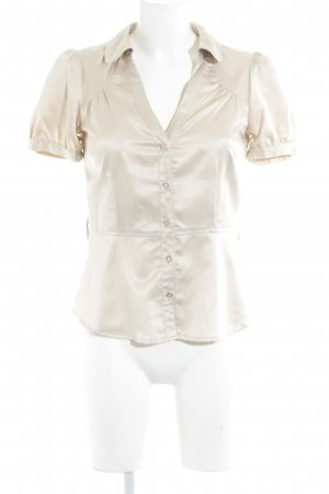 H&M Glanzbluse hellbeige Casual-Look