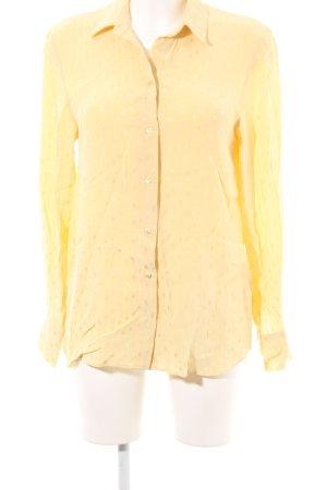 H&M Blusa brillante giallo chiaro motivo a pallini stile casual