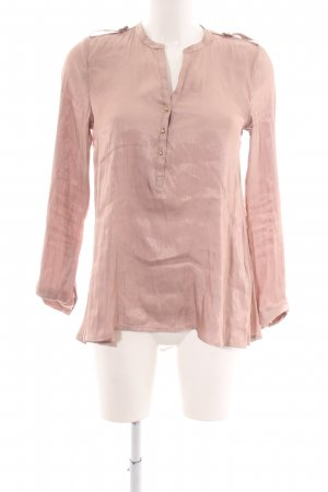 H&M Glanzende blouse roze casual uitstraling