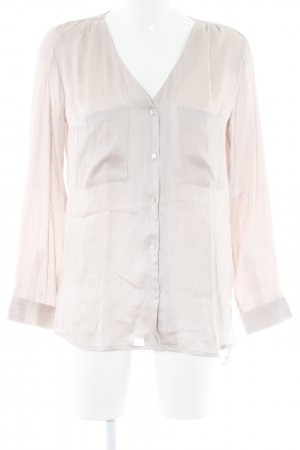 H&M Glanzbluse roségoldfarben Punktemuster Business-Look