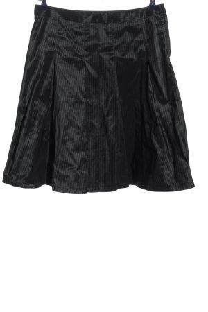 H&M Glockenrock schwarz Streifenmuster Casual-Look