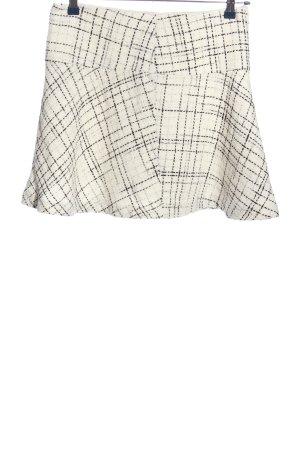 H&M Glockenrock weiß-schwarz Allover-Druck Casual-Look