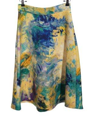 H&M Klokrok blauw-sleutelbloem abstract patroon casual uitstraling
