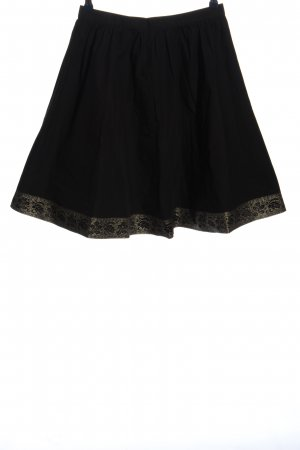 H&M Klokrok zwart-goud casual uitstraling