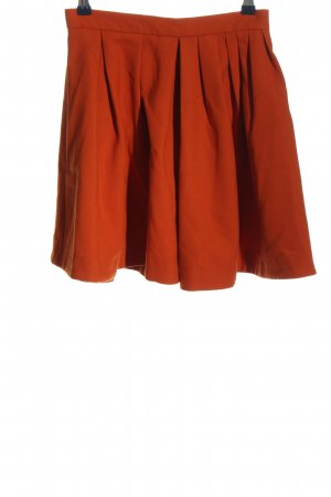 H&M Flared Skirt red casual look