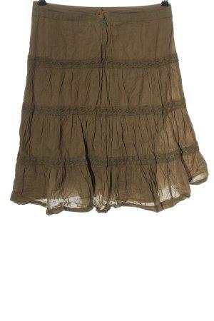 H&M Flared Skirt khaki casual look