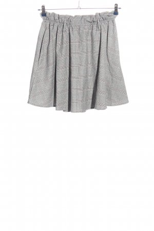 H&M Flared Skirt check pattern casual look