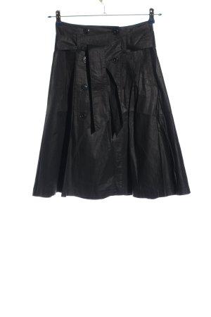 H&M Klokrok zwart wetlook