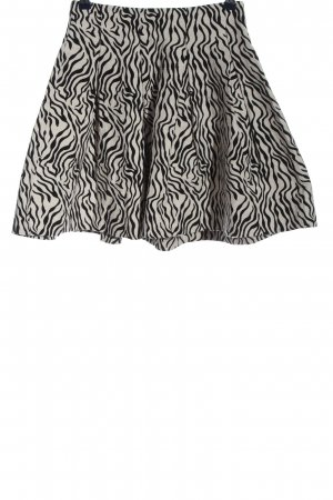 H&M Glockenrock weiß-schwarz Animalmuster Casual-Look