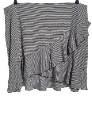 H&M Glockenrock schwarz-weiß Streifenmuster Casual-Look