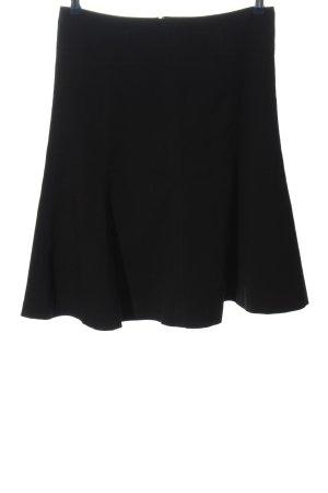 H&M Rozkloszowana spódnica czarny W stylu biznesowym
