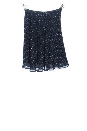 H&M Glockenrock blau-weiß Punktemuster Casual-Look